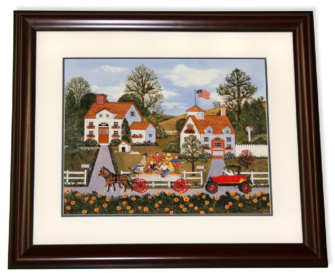 Wooster Scott- Framed Lithograph-Signature ''Road
