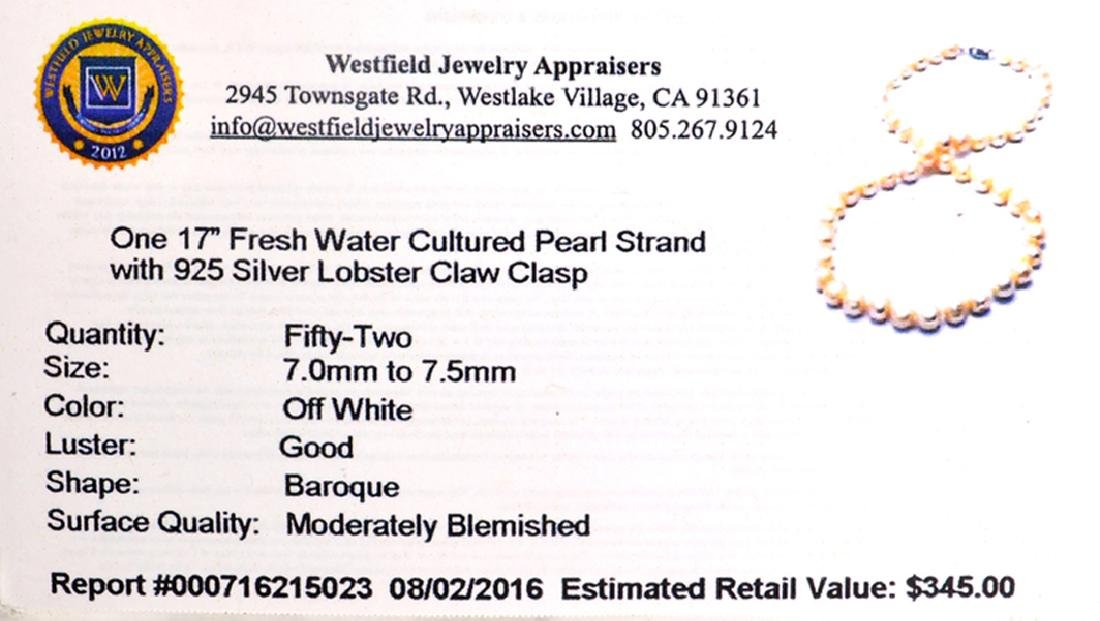 APP: 0.4k 18'' Pearl Strand with Sterling Silver Clasp - 2