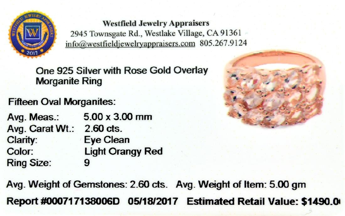 APP: 1.5k Fine Jewelry 2.60CT Oval Cut Morganite And - 2
