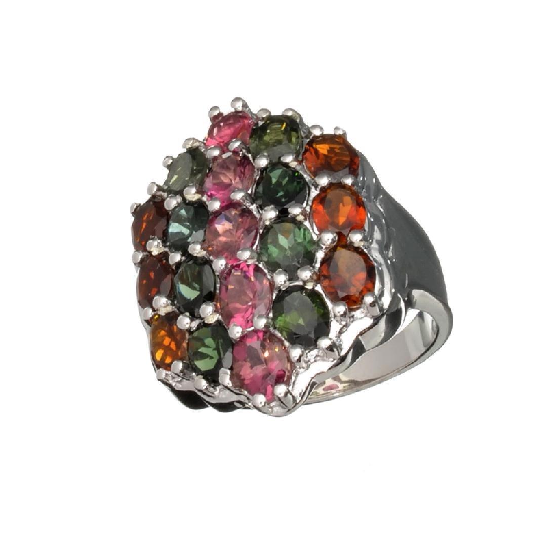 4.50CT Oval Cut Multi-Colored Multi Precious Gemstones
