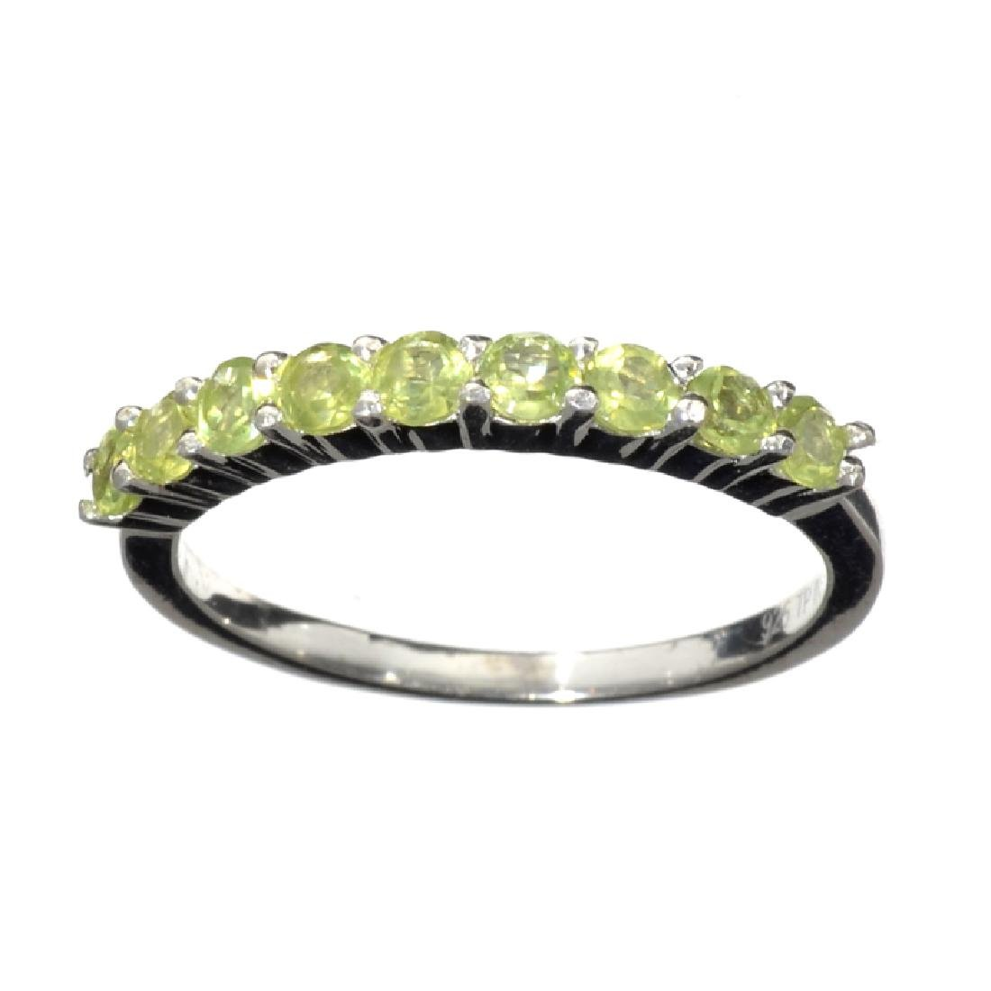 APP: 0.7k Fine Jewelry 0.85CT Round Cut Green Peridot