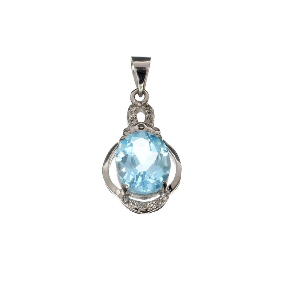 APP: 0.5k Fine Jewelry 4.55CT Blue Topaz And White