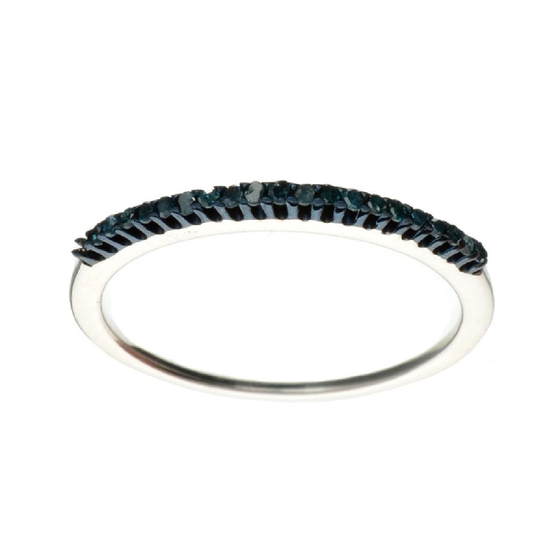 APP: 0.6k Fine Jewelry 0.28CT Round Cut Blue Diamond
