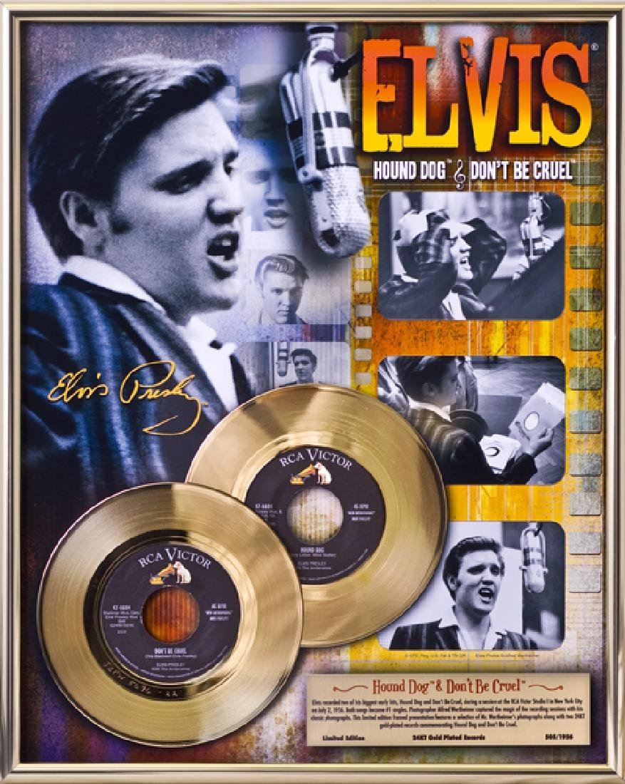 ''Hound Dog/Don't Be Cruel'' Gold 45's