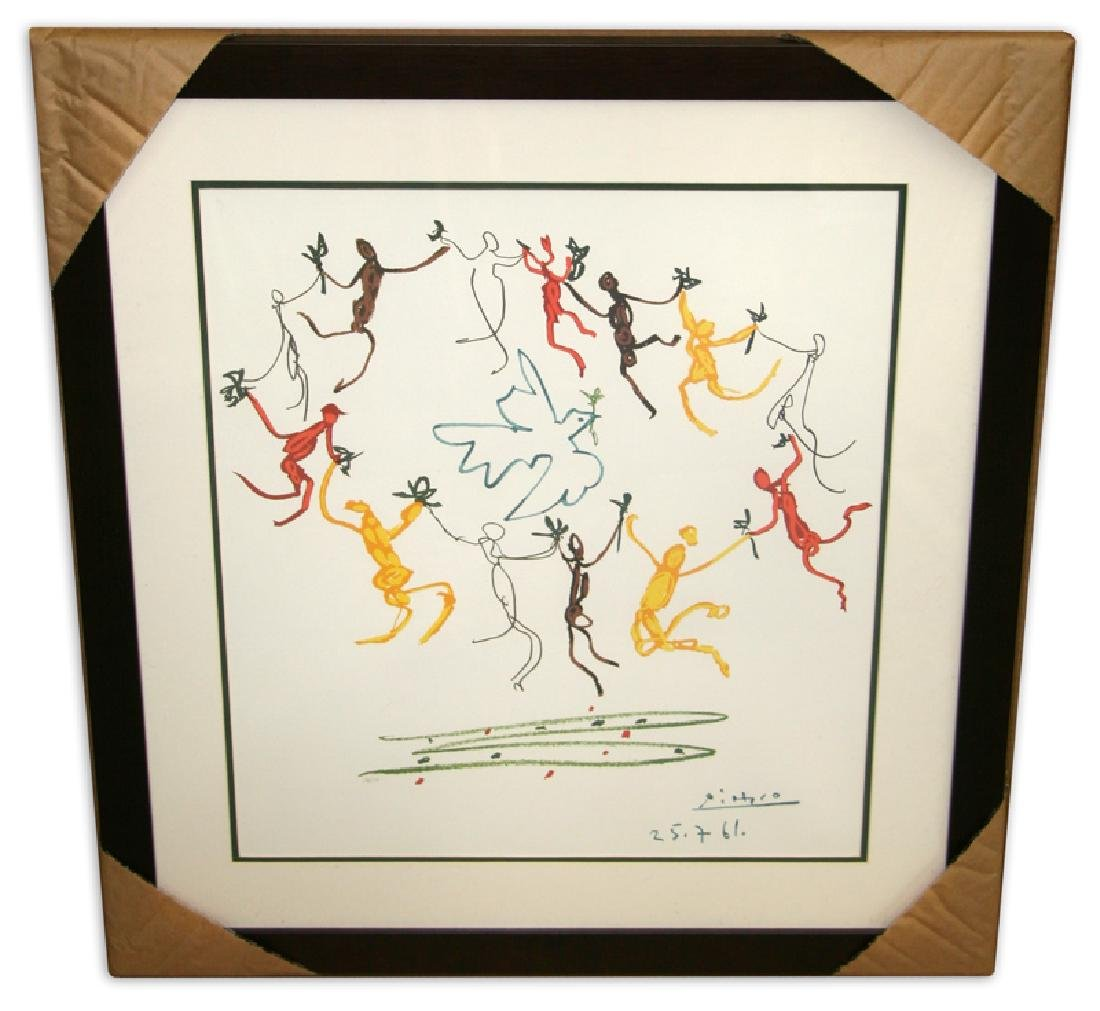 Pablo Picasso (After) 'Le Ronde' Museum Framed & Matted