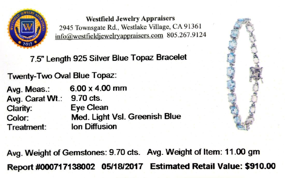APP: 0.9k Fine Jewelry 9.70CT Oval Cut Blue Topaz And - 2