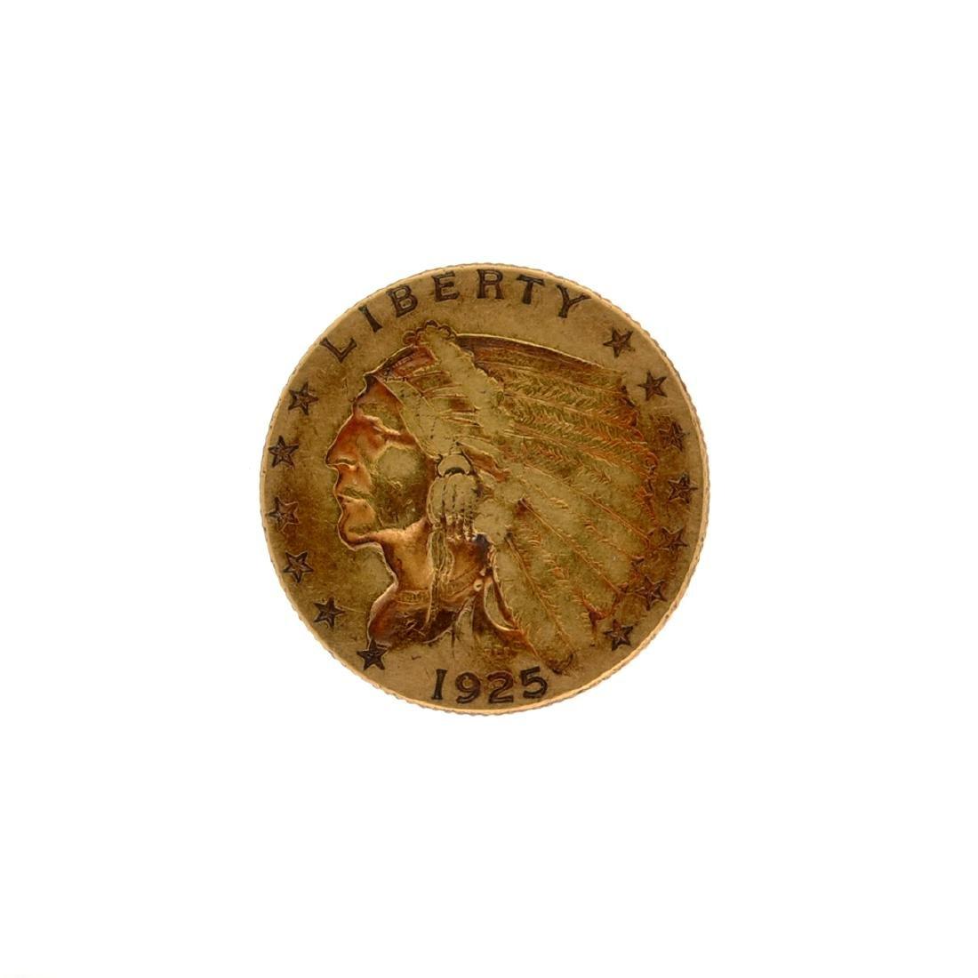 *1925-D $2.5 Indian Head Gold Coin (DF)