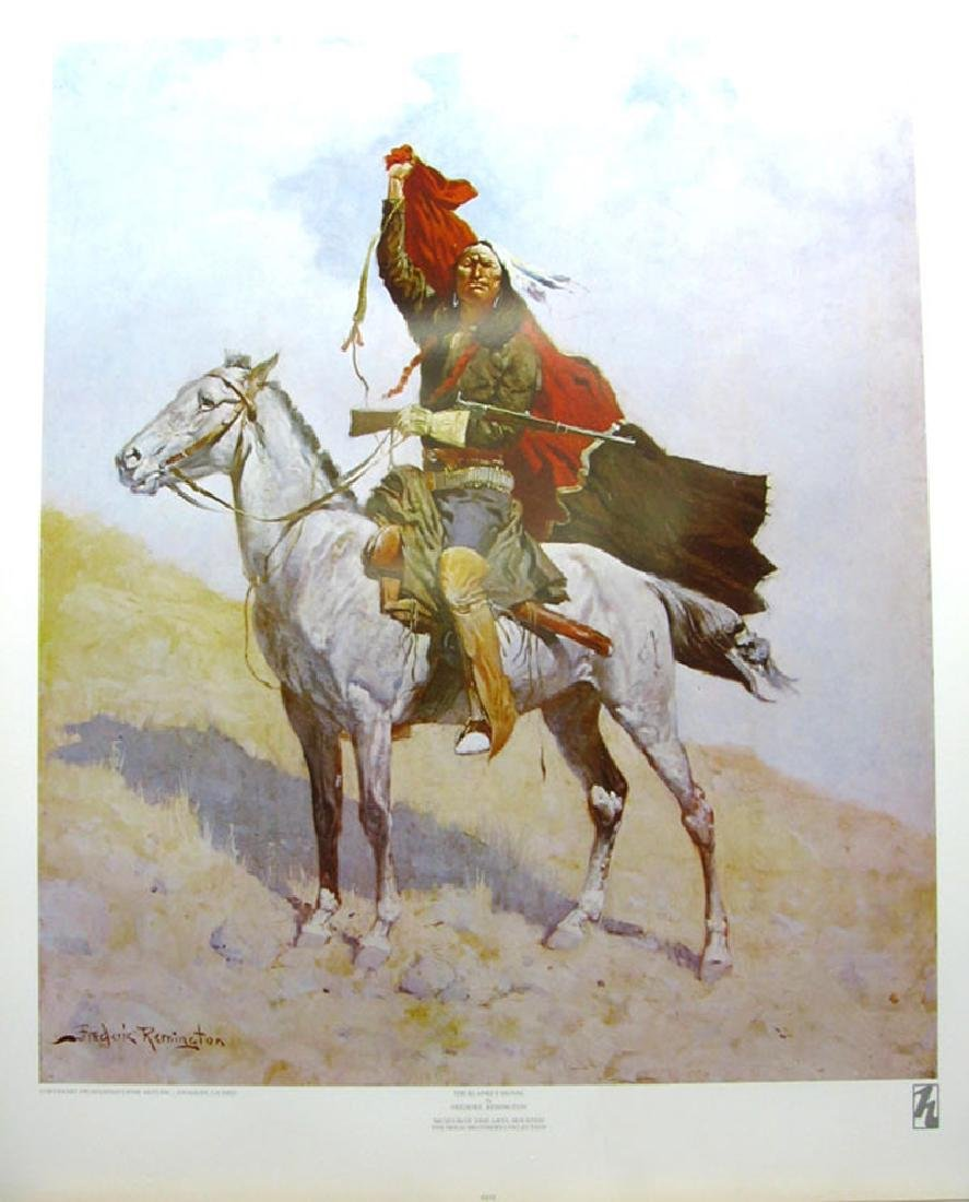 FREDERIC REMINGTON (After) The Blanket Signal Print,