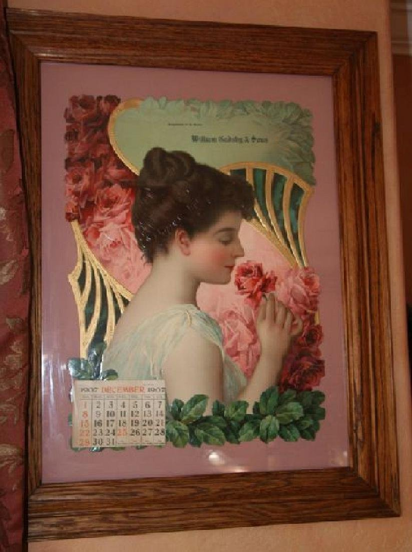 Victorian Print-One of the Finest-Girl with Roses -P-