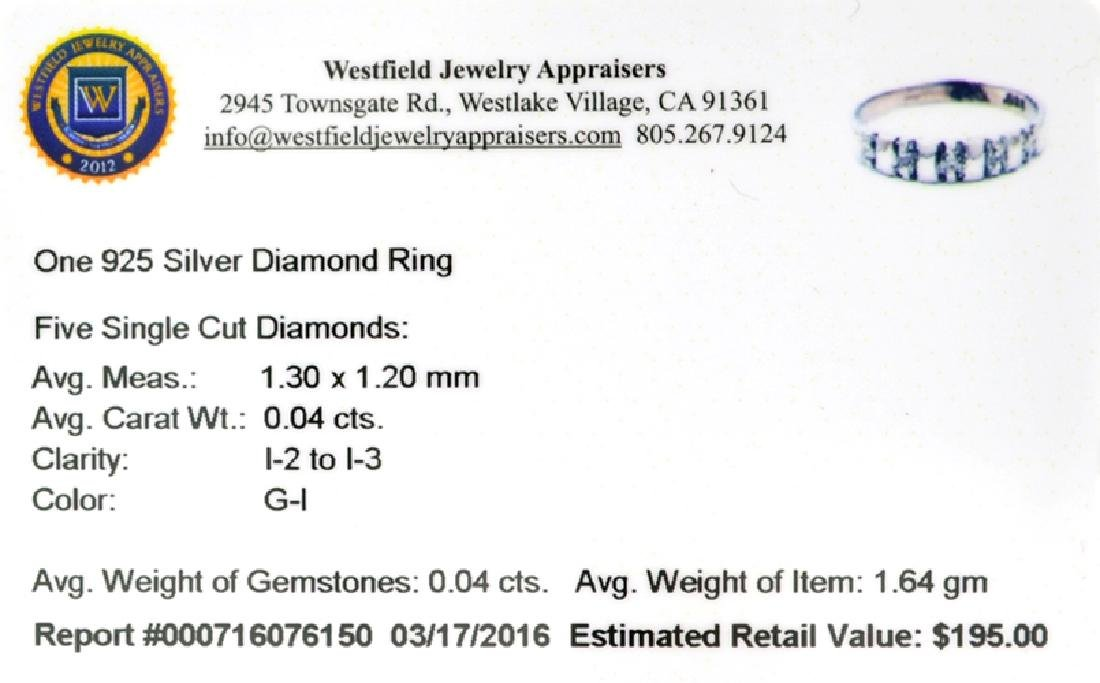 APP: 0.2k Fine Jewelry 0.04CT Single Cut Diamonds And - 2