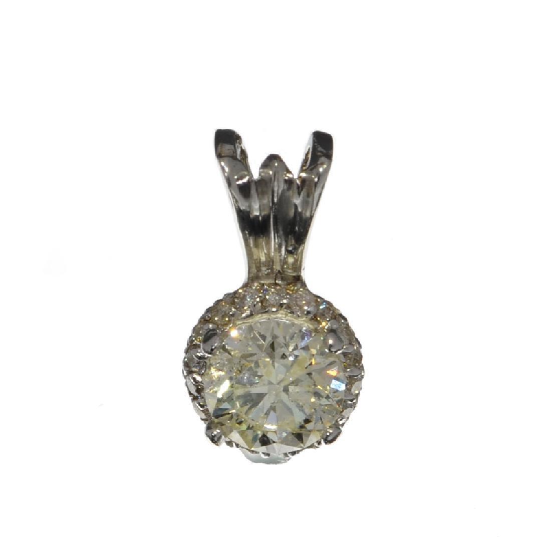 APP: 6.3k 14 kt. White Gold, 1.10CT Round Cut Diamond - 2