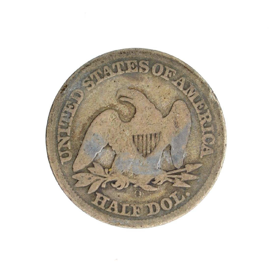 1858-O Liberty Seated Half Dollar Coin - 2
