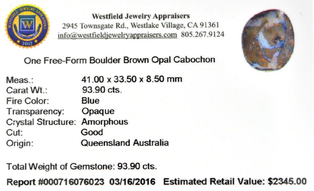APP: 2.3k 93.90CT Free Form Cabochon Brown Boulder Opal - 2