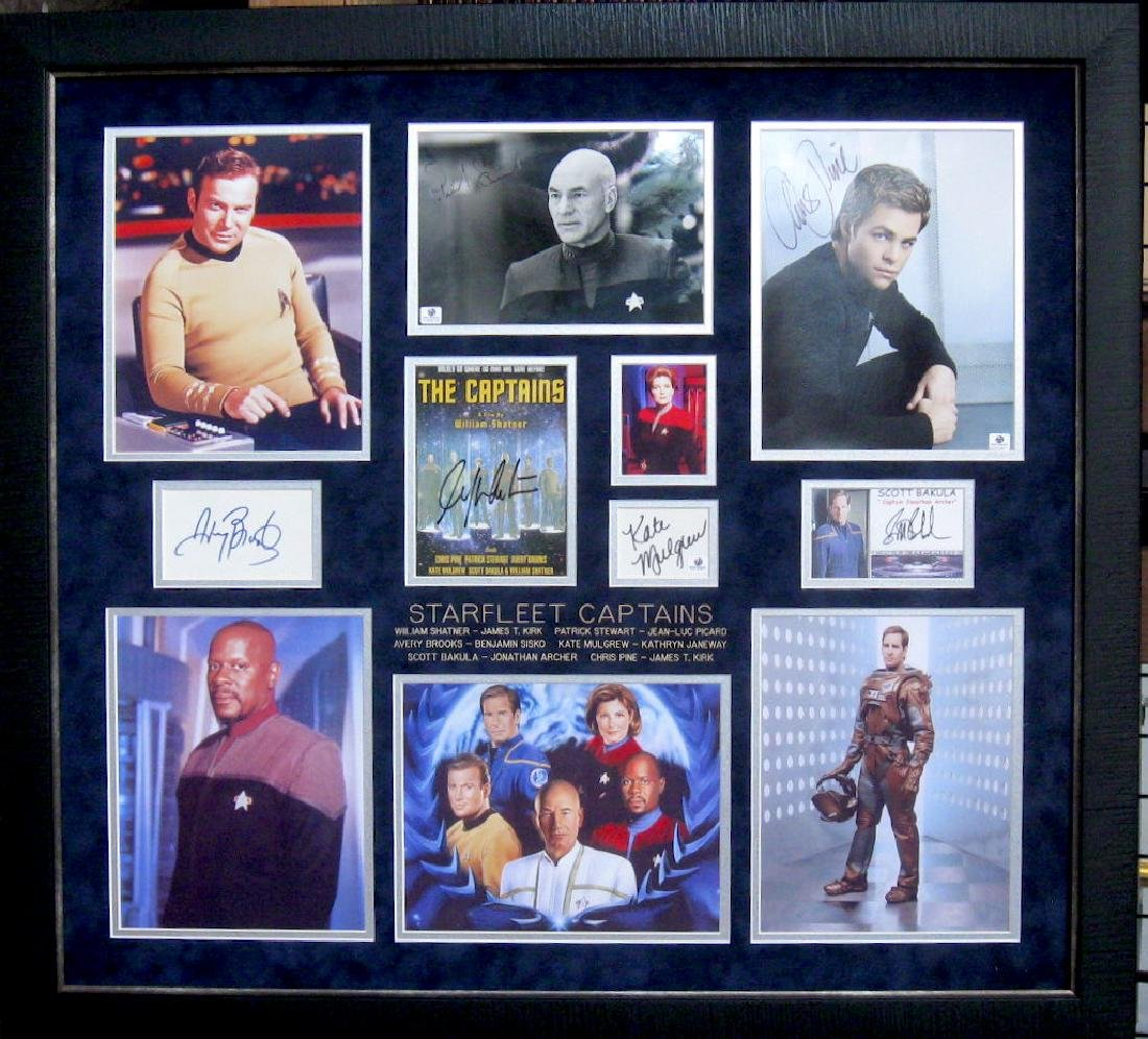 Starfleet Captains Authentic Signatures