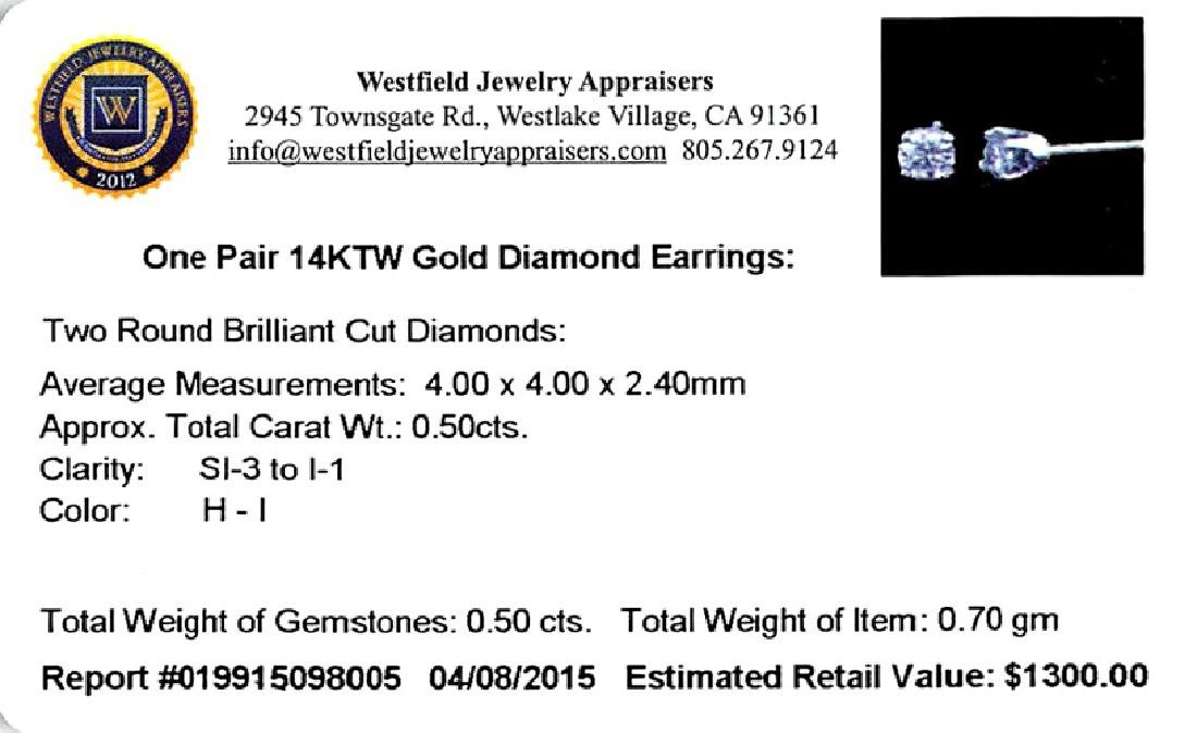 APP: 1.3k *Fine Jewelry 14 kt. White Gold, Custom Made - 2