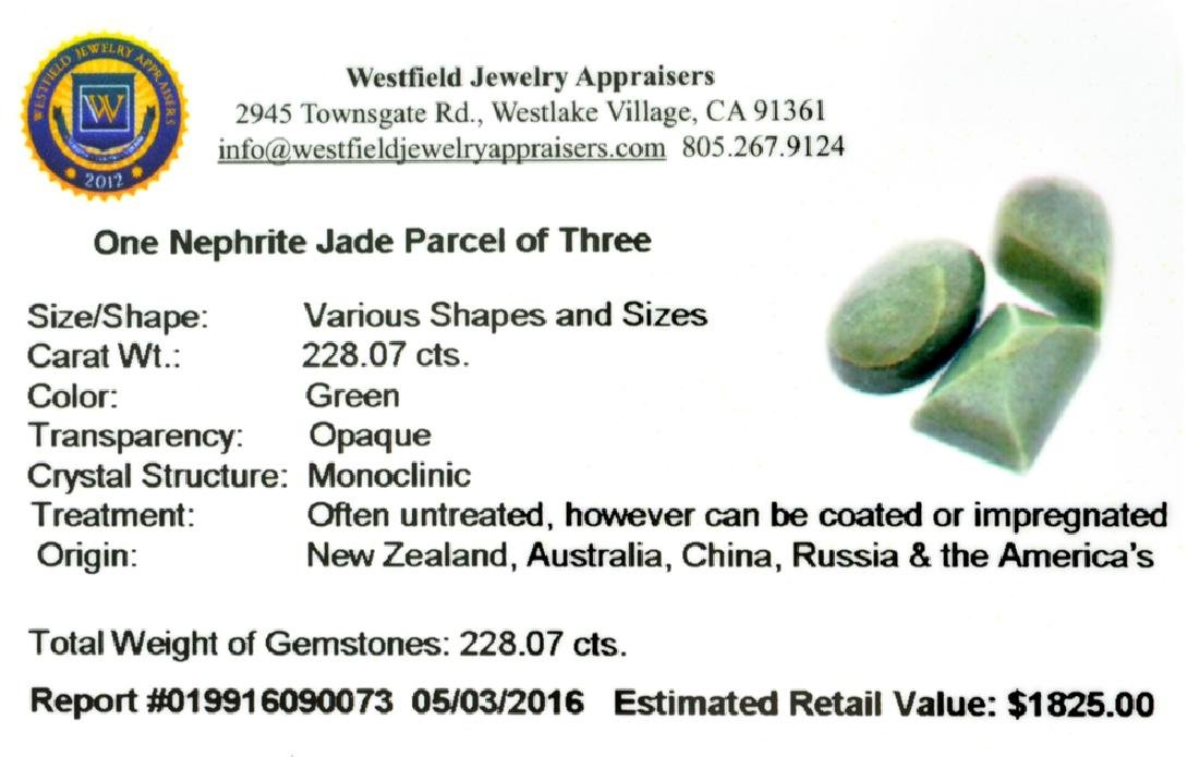 APP: 1.8k 228.07CT Various Shapes And sizes Nephrite - 2