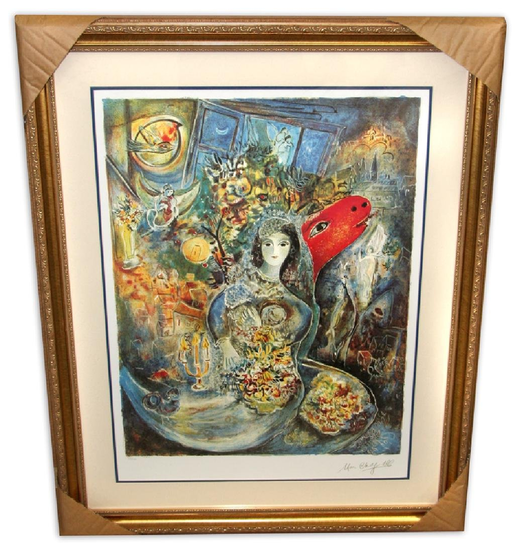 Marc Chagall (After) 'Bella' Museum Framed & Matted