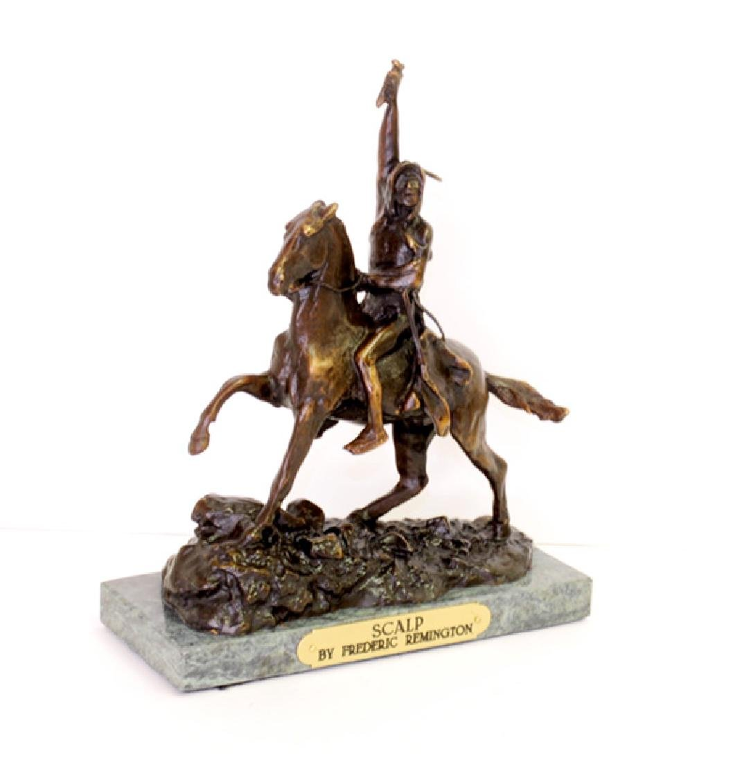 Scalp- By Frederic Remington-Bronze Reissue