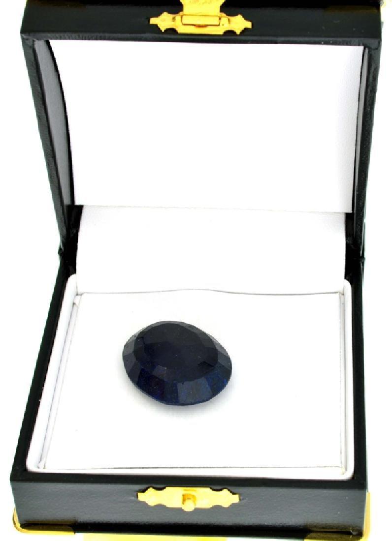 APP: 2.3k 46.67CT Oval Cut Blue Sapphire Gemstone - 2
