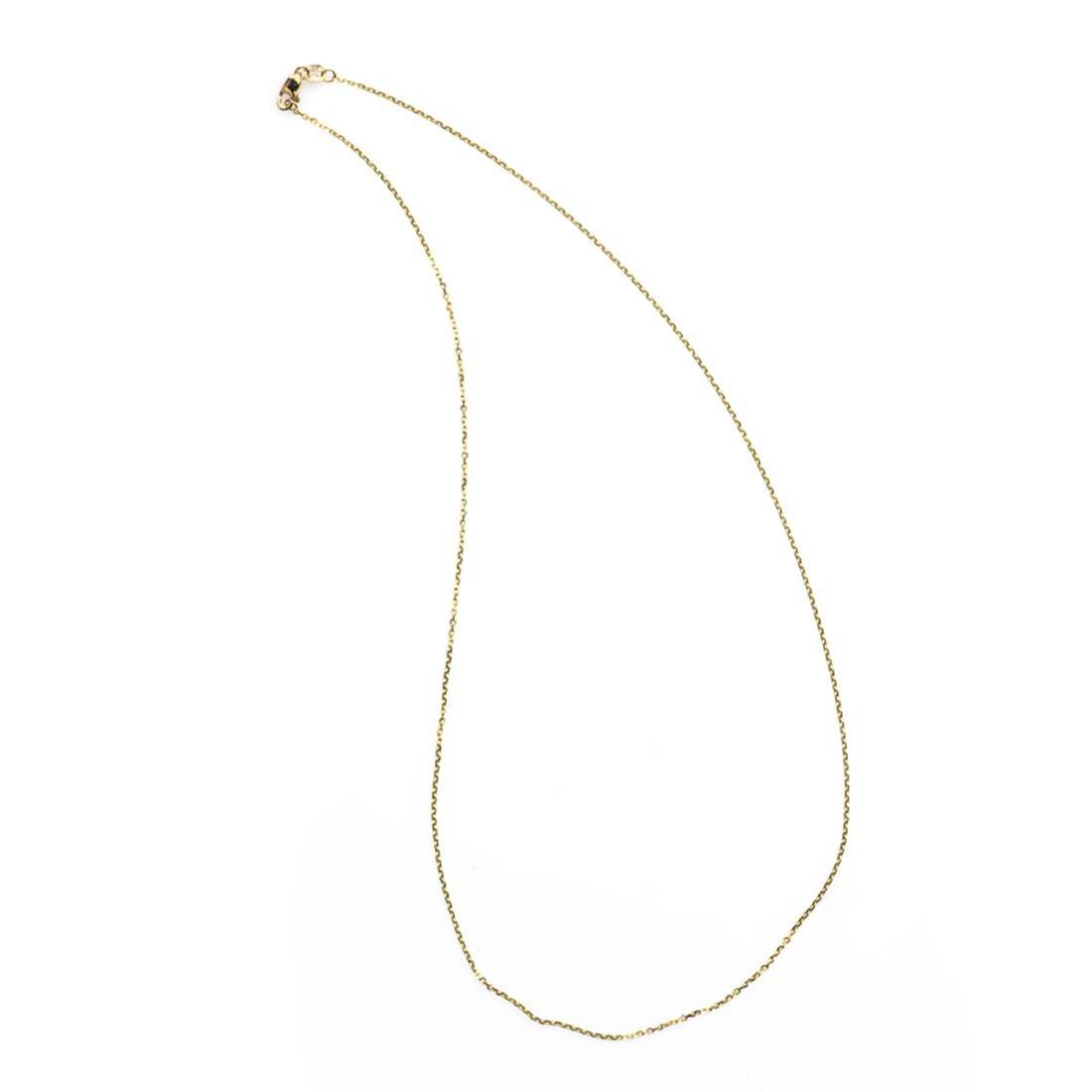 *Fine Jewelry 14KT Gold, Diamond Cut, 1.8GR. 18'' Chain