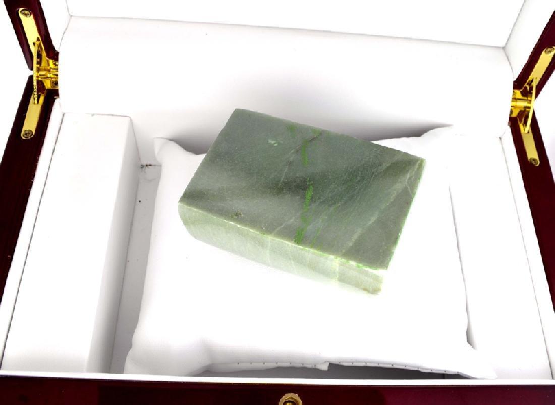 APP: 11.4k 1,136.00CT Rectangle Cut Green Jade Gemstone