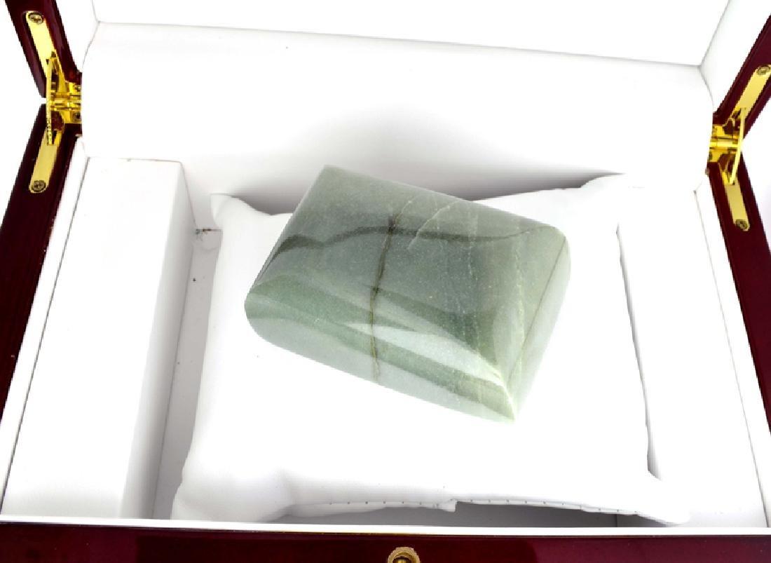 APP: 11.4k 1,136.00CT Rectangle Cut Green Jade Gemstone - 2