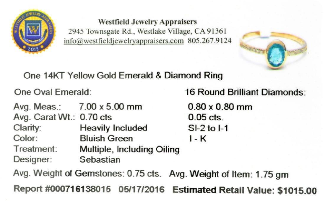 APP: 1k Fine Jewelry Designer Sebastian 14KT Gold, - 2
