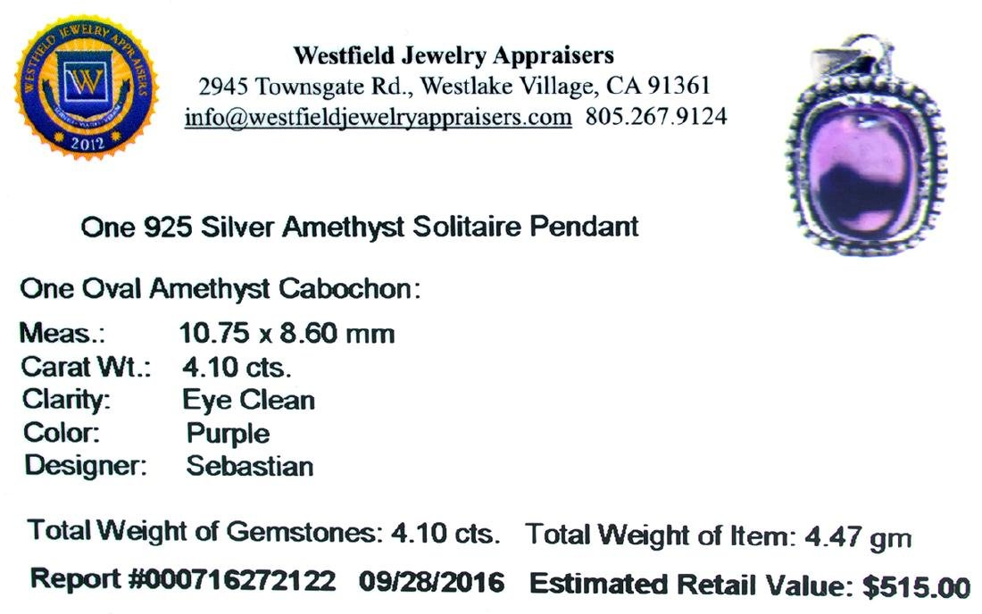 Fine Jewelry Designer Sebastian 4.10CT Oval Cut - 2