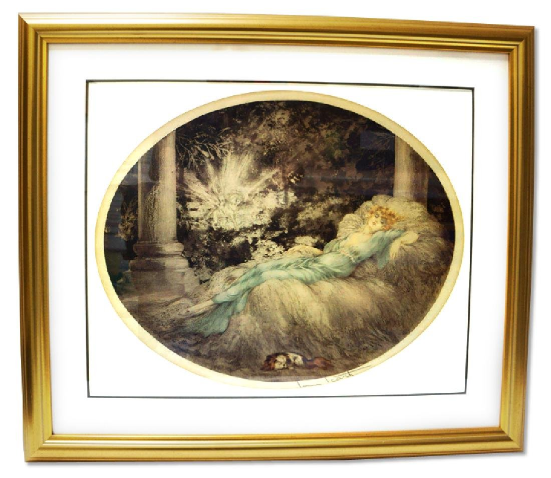 Icart (After) - The Sleeping Beauty - Museum Framed