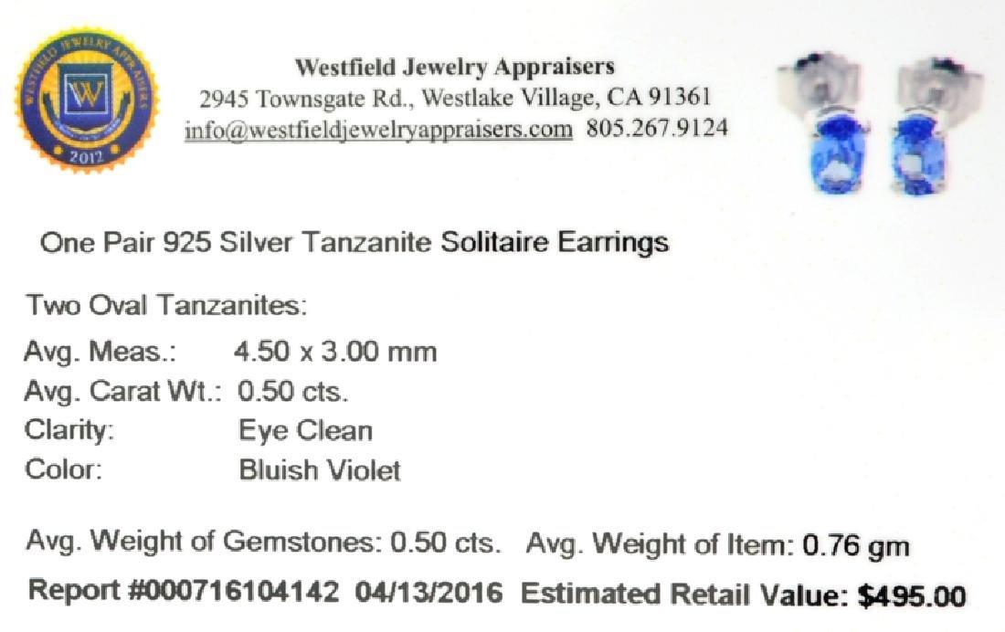 APP: 0.5k Fine Jewelry 0.50CT Oval Cut Tanzanite And - 2