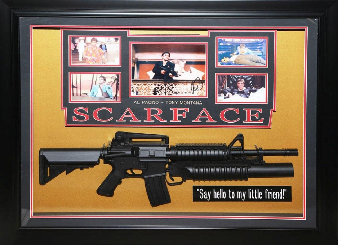 Scarface Collage with Gun