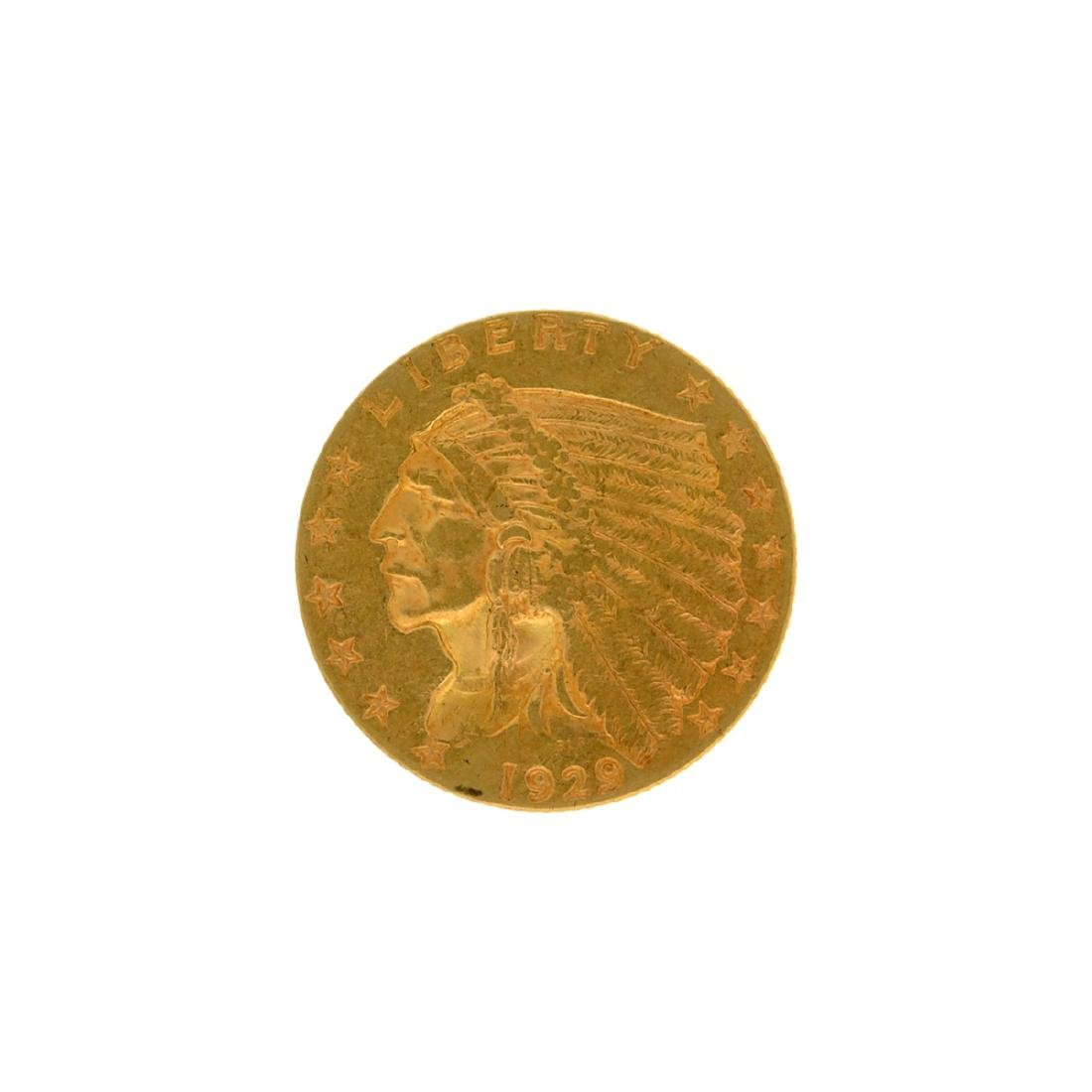 *1929 $2.5 Indian Head Gold Coin (DF)