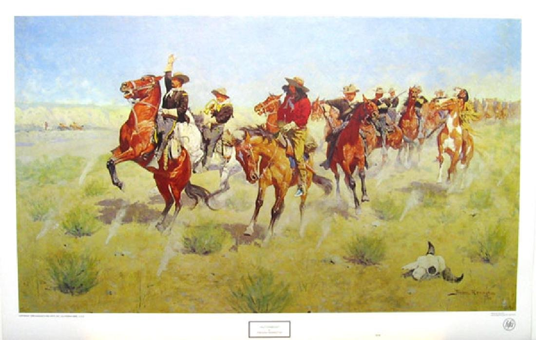 FREDERIC REMINGTON (After) Halt-Dismount Print, 32'' x
