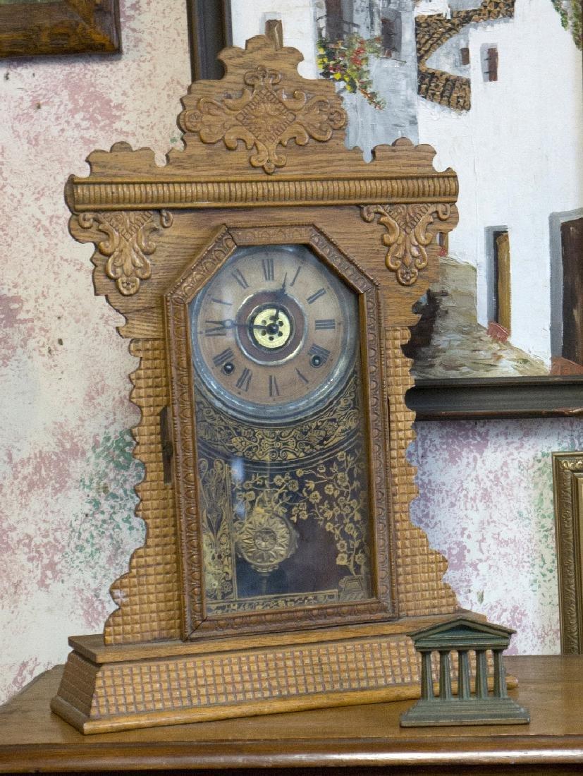 Antique Oak Kitchen Clock