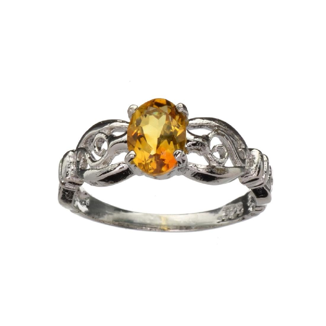 APP: 0.6k Fine Jewelry 0.86CT Oval Cut Golden Citrine