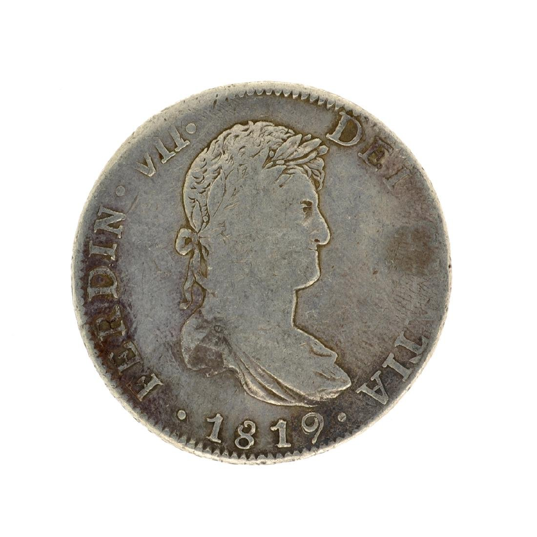 1819 Extremely Rare Eight Reales American First Silver
