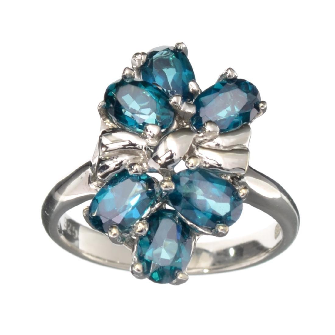 Fine Jewelry Designer Sebastian 2.76CT Oval Cut Blue