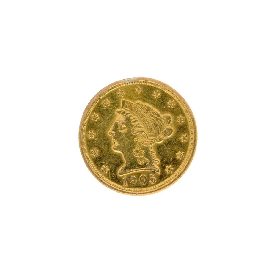 1905 $2.50 U.S. Liberty Head Gold Coin