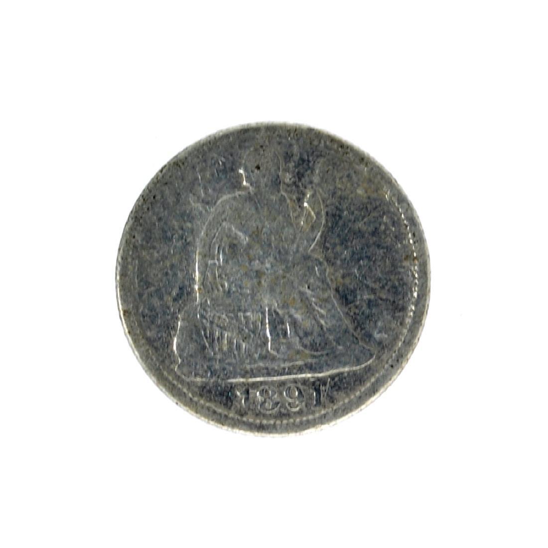 1891-O Liberty Seated Dime Coin