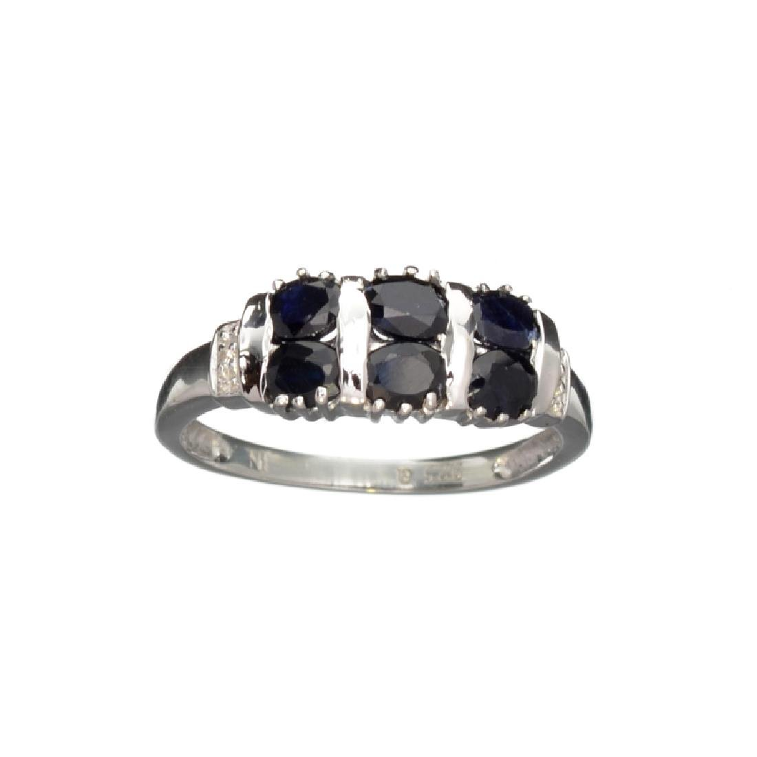 APP: 0.5k Fine Jewelry 1.33CT Round Cut Blue And White