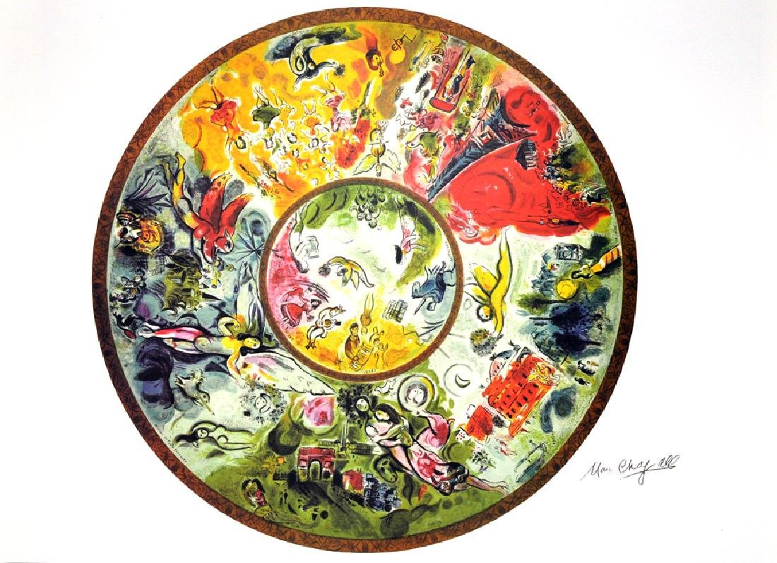 MARC CHAGALL (After) Paris Opera Ceiling Print, 92 of