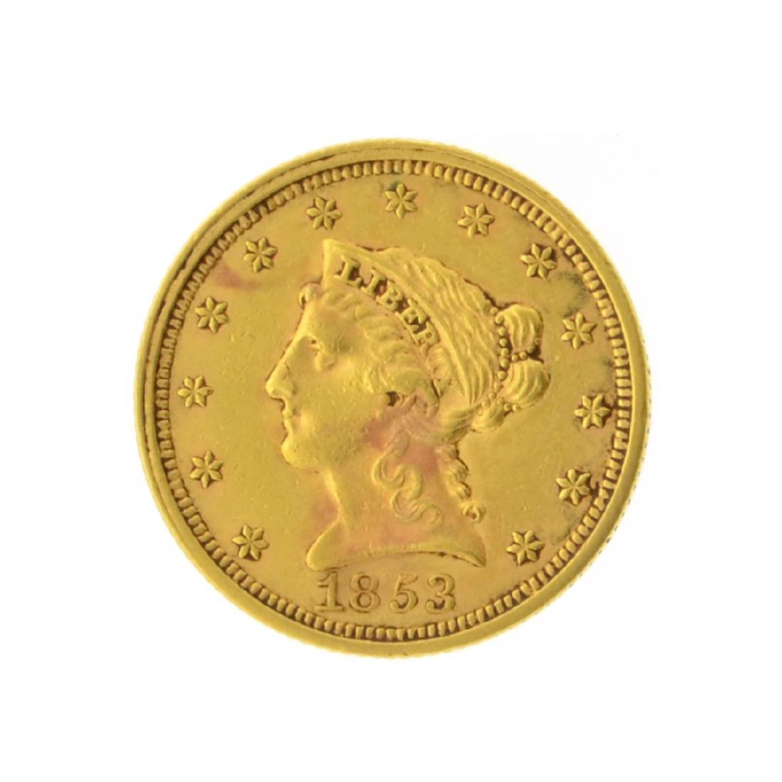 1853 $2.50 Liberty Head Gold Coin