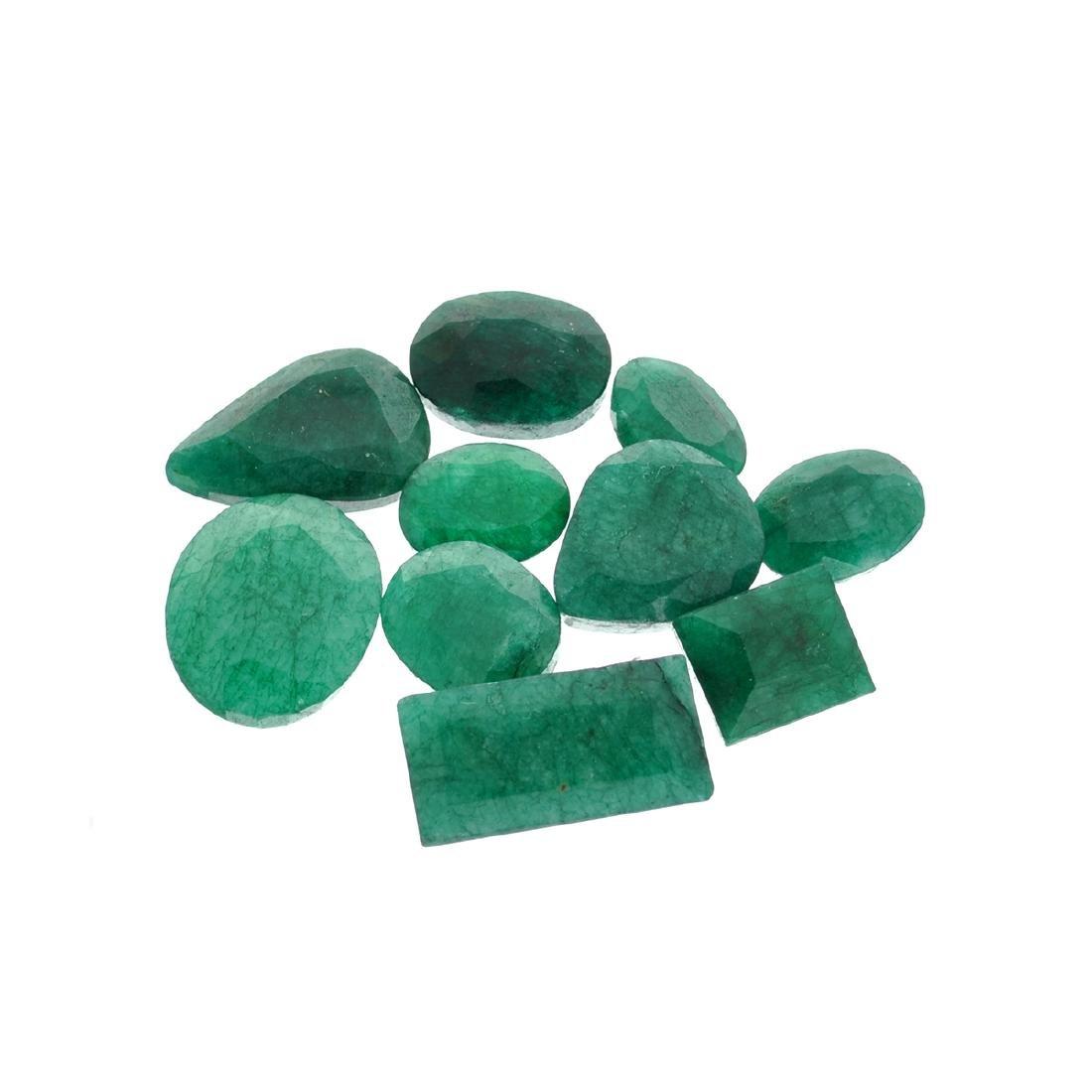 APP: 7.6k 101.51CT Various Shapes Green Emeral Parcel -
