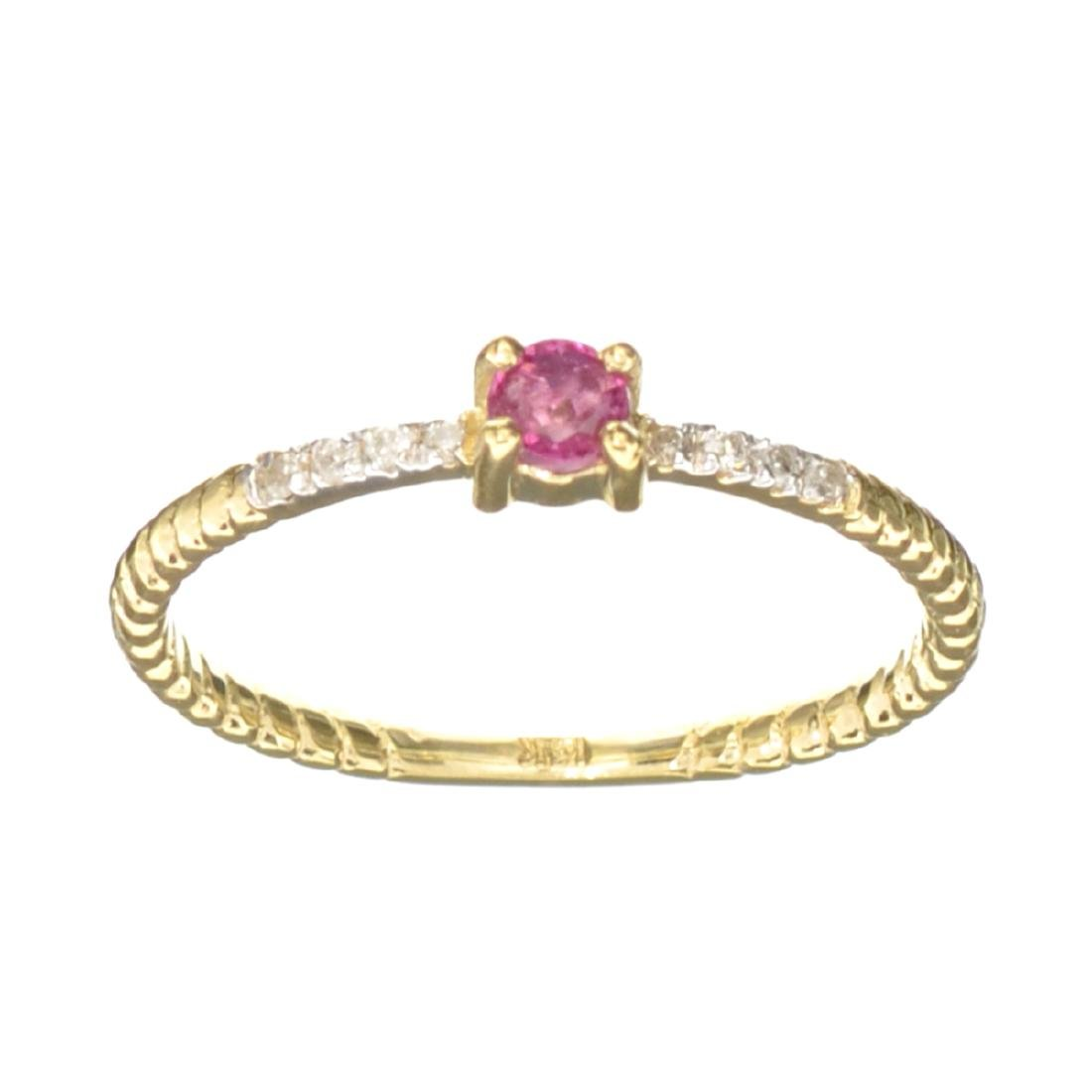 APP: 0.5k Fine Jewelry 14KT Gold, 0.23CT Red Ruby And