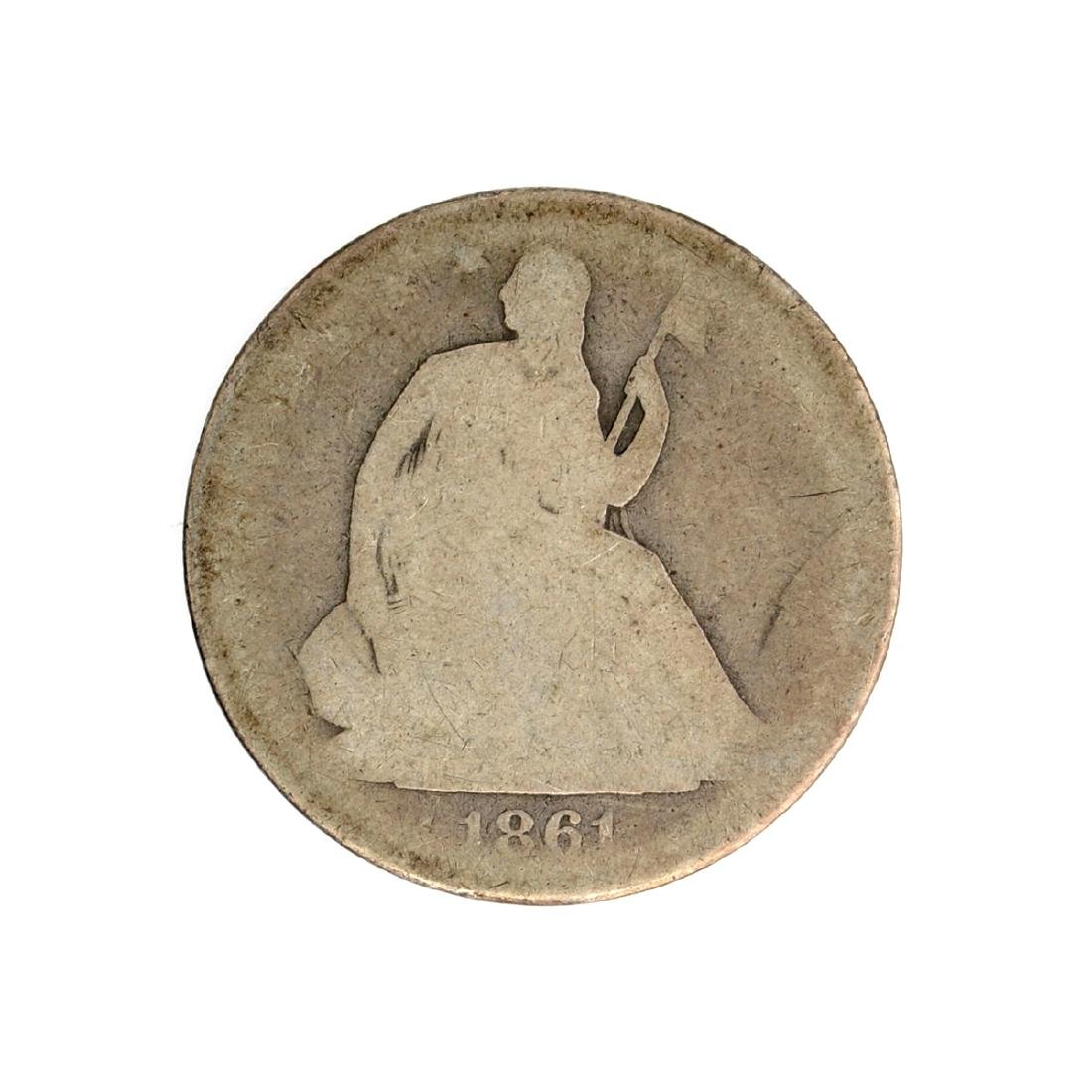 1861-O Liberty Seated Half Dollar Coin
