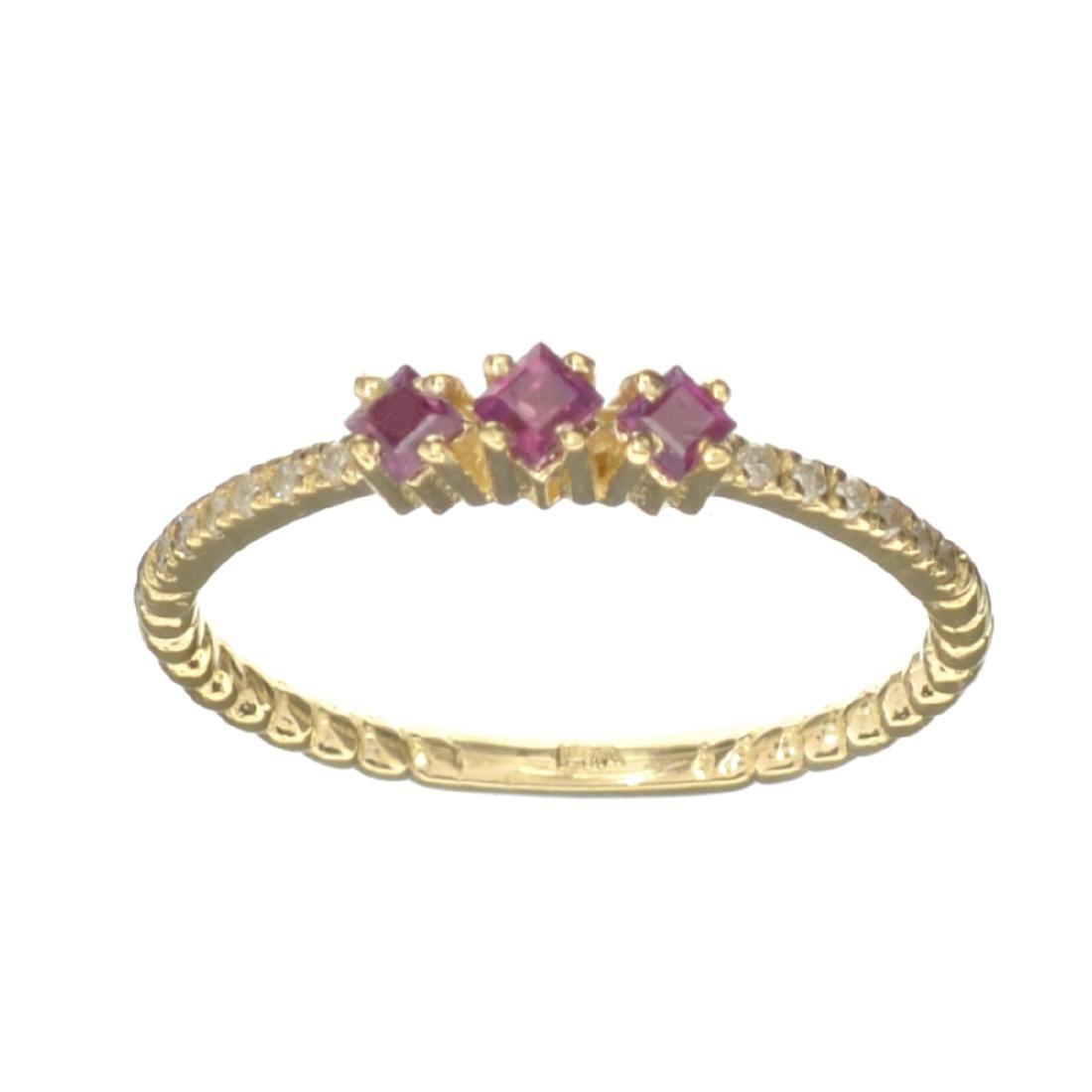 APP: 0.6k Fine Jewelry 14KT Gold, 0.24CT Ruby And