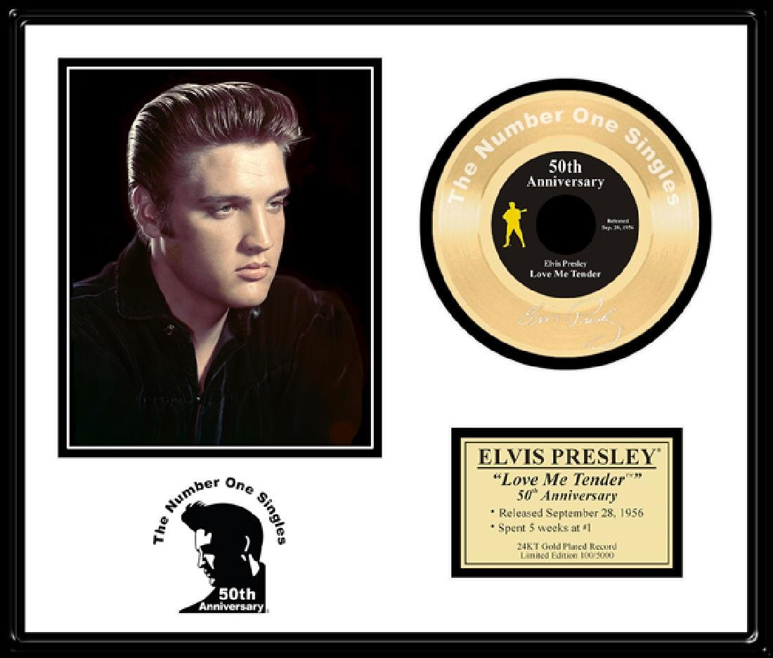 ''Love Me Tender'' Gold 45-50th Anniversary