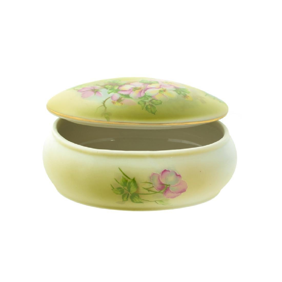 Handpainted Wildflower Porcelain Box