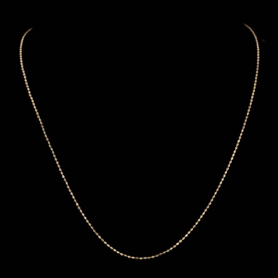 *Fine Jewelry 14KT Gold, 3.8GR, 18'' Double Bead Chain