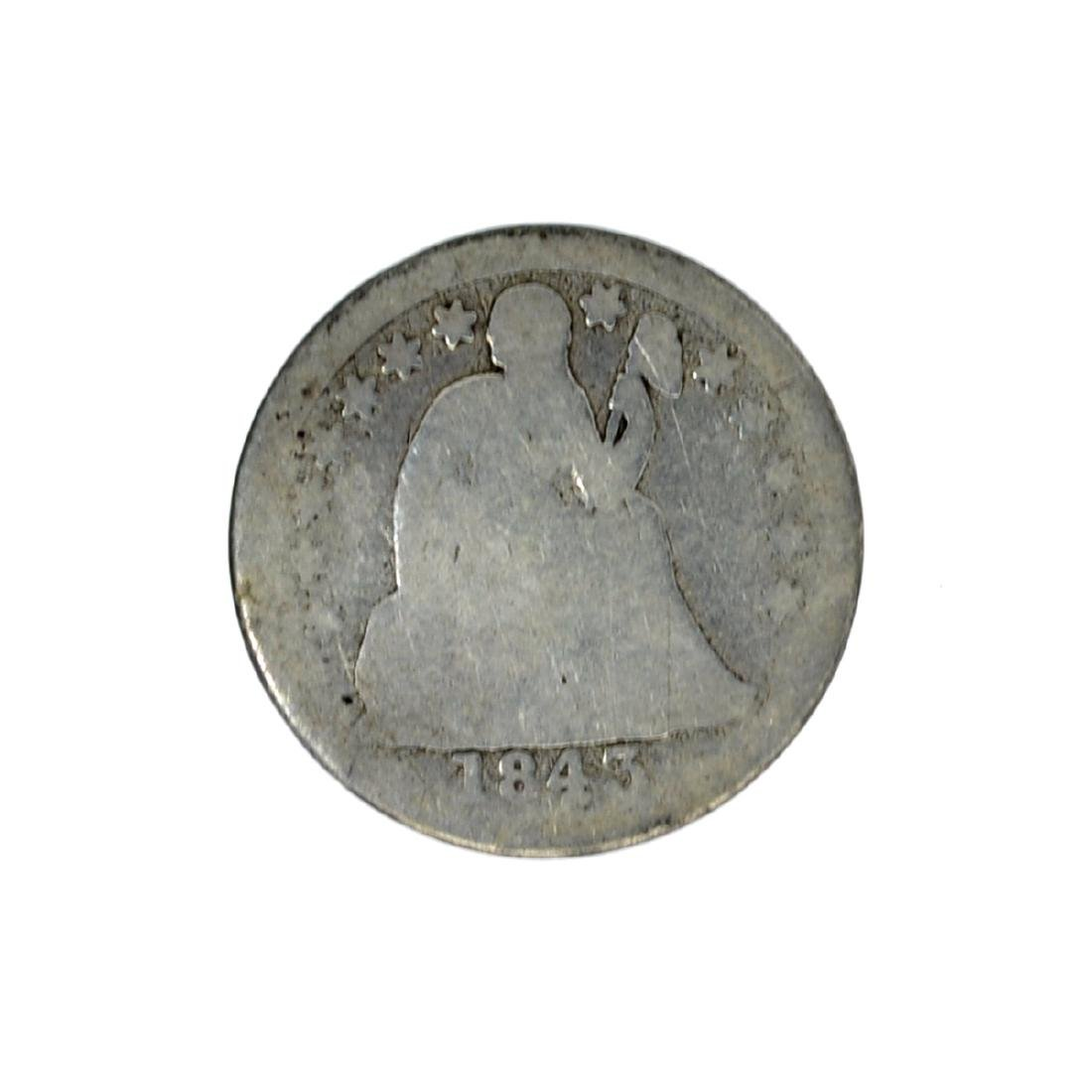 1843 Liberty Seated Dime Coin